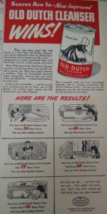 Advertisement for Old Dutch Cleanser published in 1943.